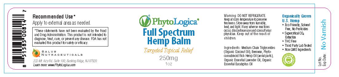 Full Spectrum Hemp Balm – 250 mg Label