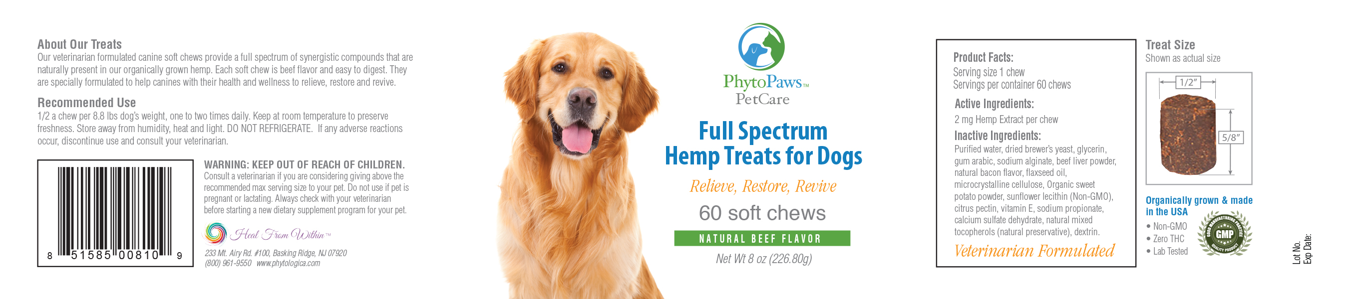 Full Spectrum Hemp CBD Dog Treats
