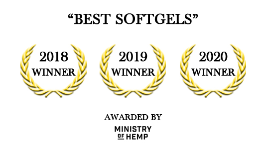 Best Softgels – Awarded by Ministry of Hemp
